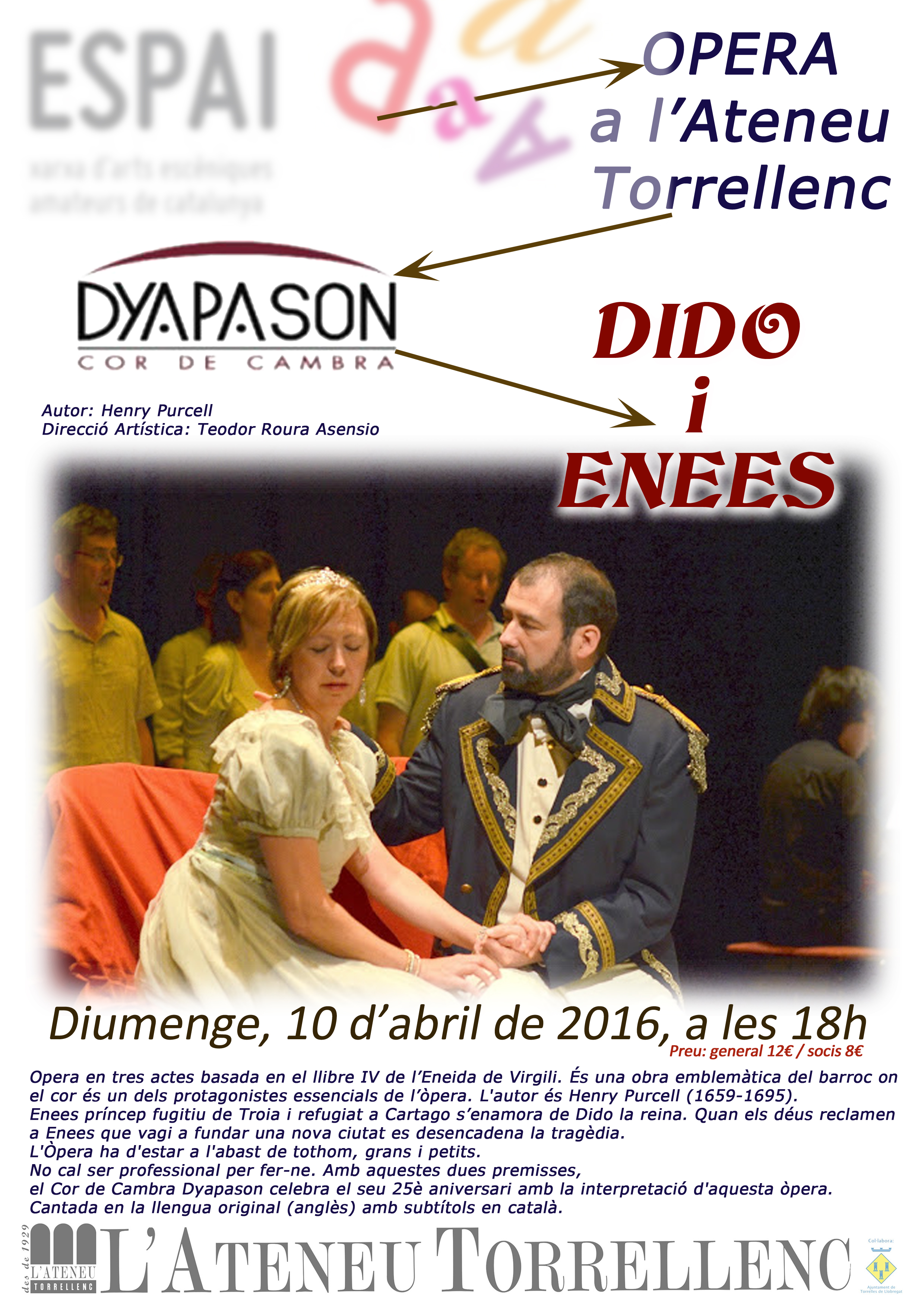 Cartell opera Dido i Enees